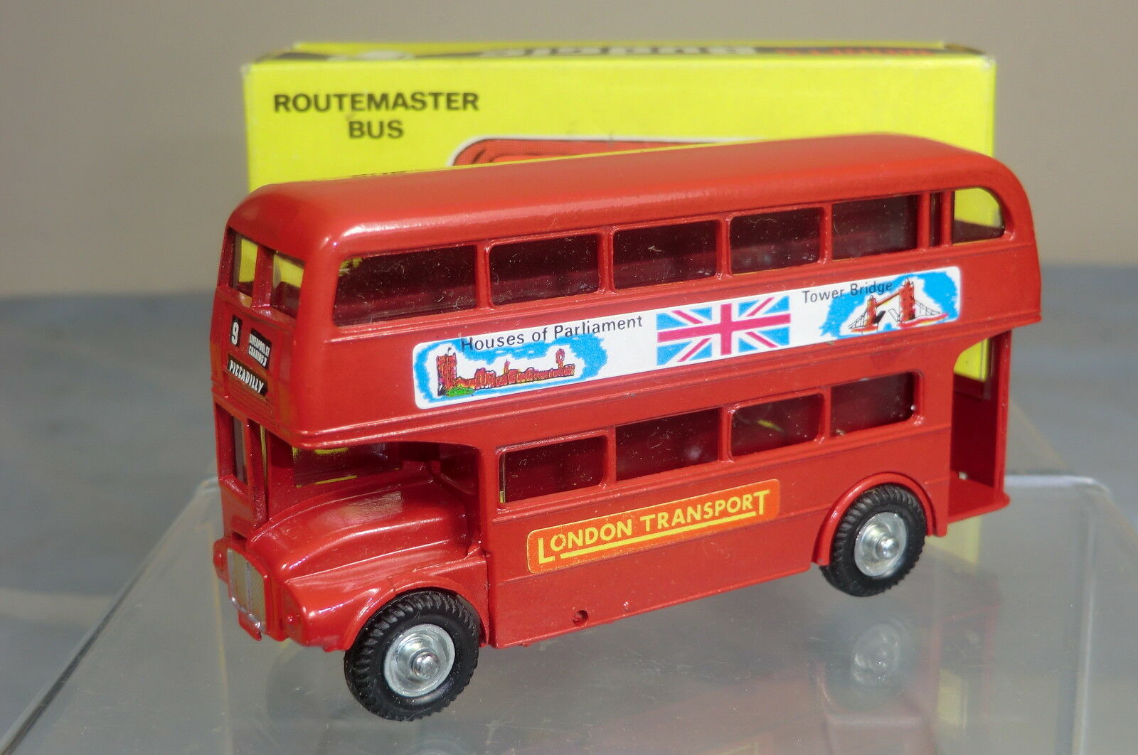 BUDGIE TOYS  MODEL No.236  AEC ROUTEMASTER BUS ' HOUSES OF PARLIAMENT'      MIB