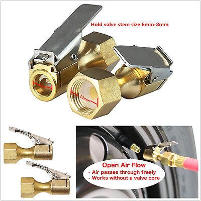 Heavy Duty Golden Brass Clip-on Female 1//4/'/' NPT Tyre Wheels Inflater Air Chuck