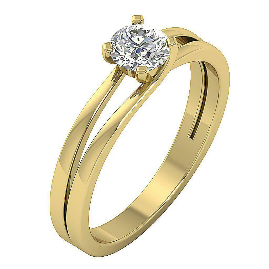 Solitaire Anniversary Genuine Diamond Ring SI1 G 0.50 Ct Apprisal 14K Solid gold