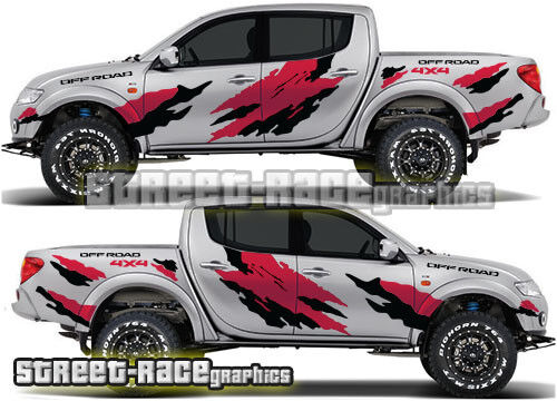 Mitsubishi l200 022 rally raid stickers decals graphics race motorsport