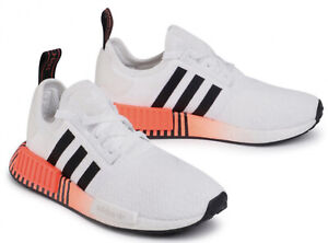 Details about New ADIDAS NMD R1 BOOST athletic sneaker Mens casual shoes white orange 8-13