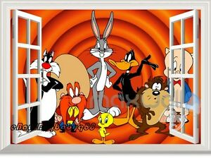 Looney Tunes Character 3d Window Wall Decals Art Removable
