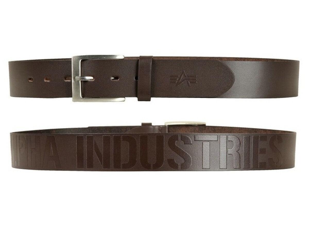 Alpha Industries Belt Belt Brown Genuine Leather Buckle 168931