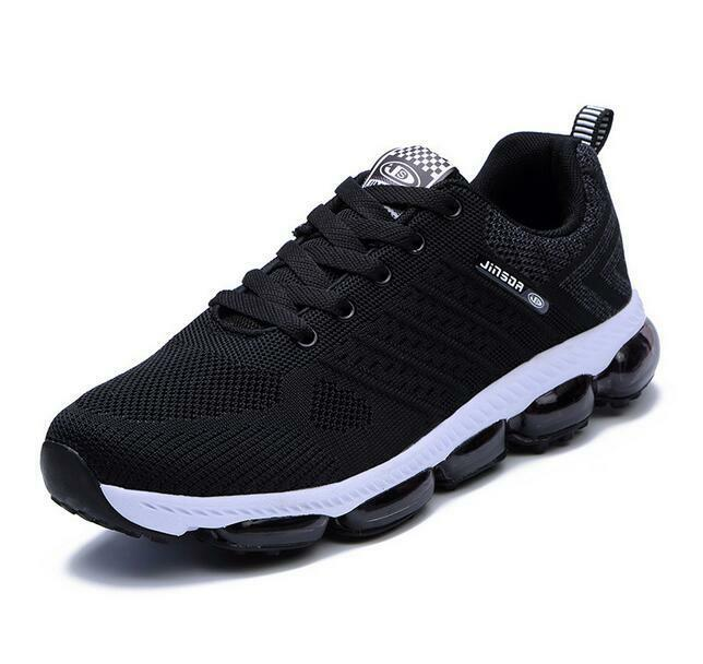 Men's New Trend Air Cushion Laced Woven Sports shoes Breathable Sports Sneakers