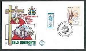 1980 Vaticano Viaggi Del Papa Brasile Belo Horizonte - Ev