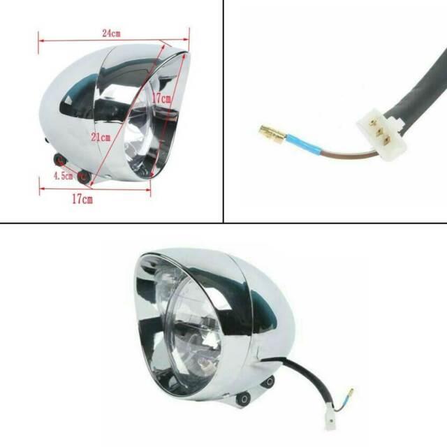 Chrome Bullet Headlight Headlamp For Harley Honda Shadow Sabre VT VF 700 750 GM