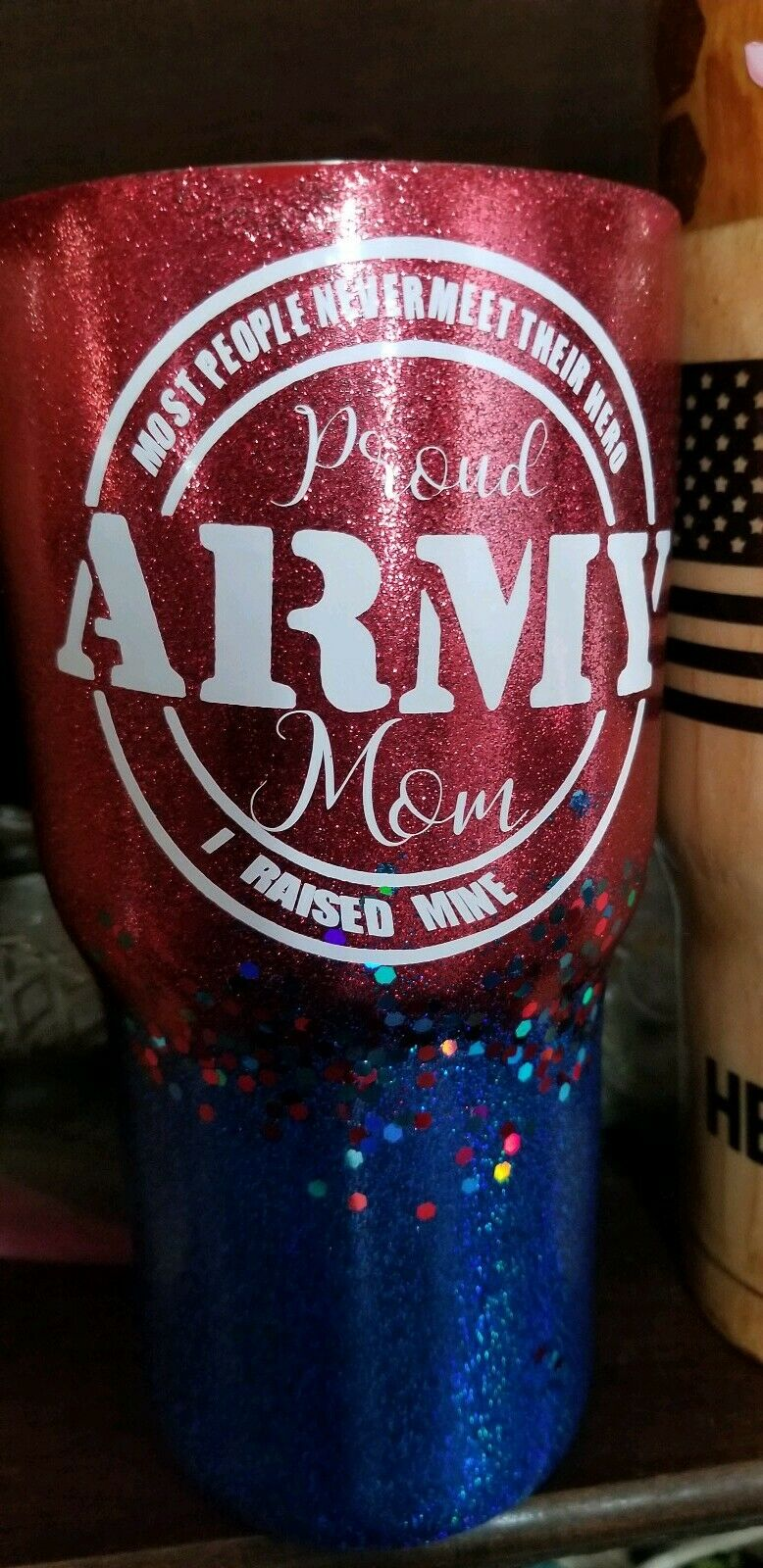 Proud army mom and dad tumblers