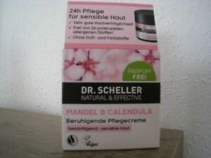 Dr-Scheller-Pflegecreme-Mandel-amp-Calendula-50-ml-Natural-Effective-NEU-Parfumfrei