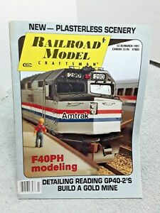 Railroad-Model-Craftsman-Magazine-March-1991-Z-N-HO-S-O-G-vintage
