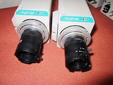 Lot of 2 - Panasonic WV-CP234 Color CCTV Camera With Computar TV Lens 3.5-8mm