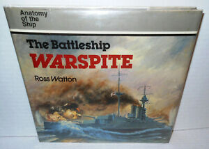 BOOK-Anatomy-of-the-Ship-Battleship-HMS-Warspite-2-Wars-op-1986-1st-Ed-HB-dj
