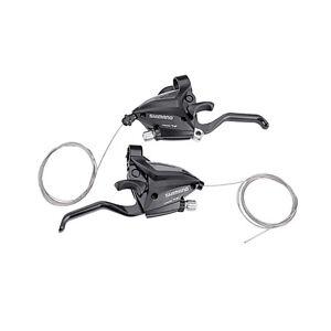 SHIMANO-Bike-Brake-Shifters-Set-Brake-Levers-amp-Shift-Levers-EF500-7-3x7S-Black