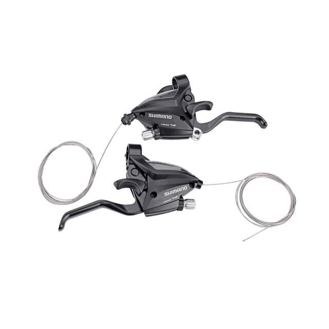 R set 602 New Shimano brake shift lever 3x7speed ST-EF500 2 fingers black L