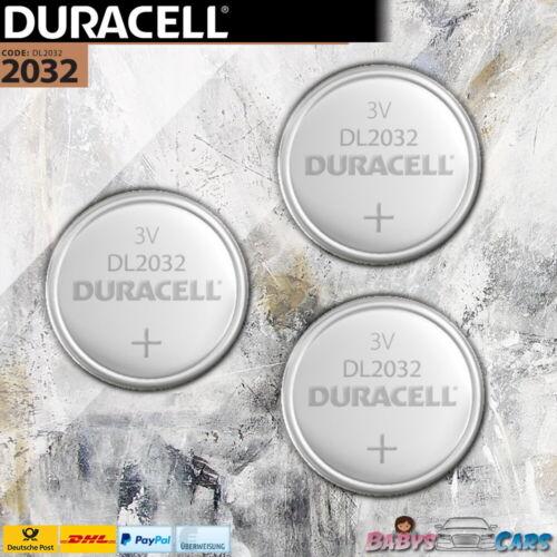 Duracell Knopfzellen CR 2032 CR2032 Knopfzelle Batterie Bulk 1-10 Stück Auswahl
