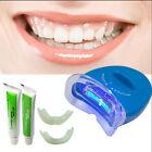 LED White Light Teeth Whitening System Kit Tooth Whitelight Gel Oral Cleaner New
