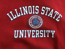Illinois State Redbirds Sweatshirt sz Large University ISU Mint 90's Hoodie Red