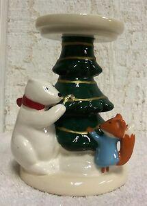 Bath Amp Body Works Polar Bear Fox Christmas Tree Pedestal