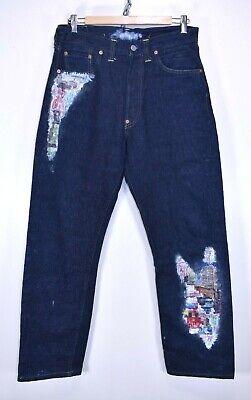 """Sito Ufficiale Levis 201xx Cimosa Grande Capitale E Vintage Denim Jeans Cinch 32"""" Vita 32"""" Gamba-mostra Il Titolo Originale"""