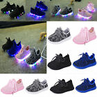Child Kids Boys Girls Luminous Sneakers Running shoes Led Light Up Sneaker Shoes