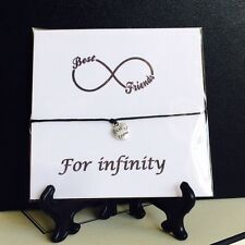 Wish String Charm Bracelet Best Friend Infinity Friendship Star Card Gift  #68
