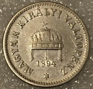 1894-KB-Hungary-10-Filler-Coin-Franz-Joseph-I-Free-combined-Shipping