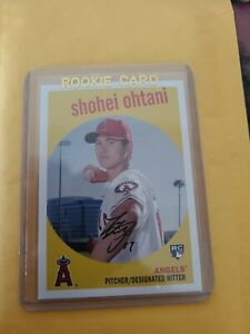 Shohei Ohtani 2018 Topps Archives RC Los Angeles Angels Rookie Card ROY
