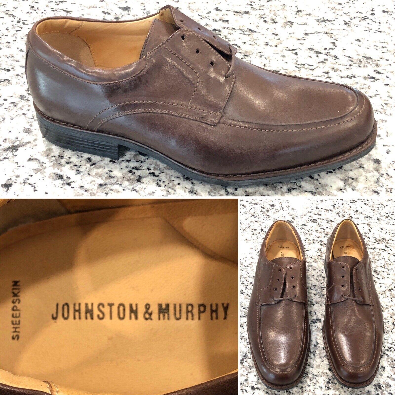 negozio di moda in vendita NEW JOHNSTON &MURPHY Uomo Sz 9.5M 9.5M 9.5M Marrone Leather scarpe Sheep Skin Insoles 20-7430  protezione post-vendita