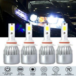 Combo-9005-H11-LED-Headlight-Kit-4-Bulbs-High-Low-Beam-6000K-White-150000LM-HID