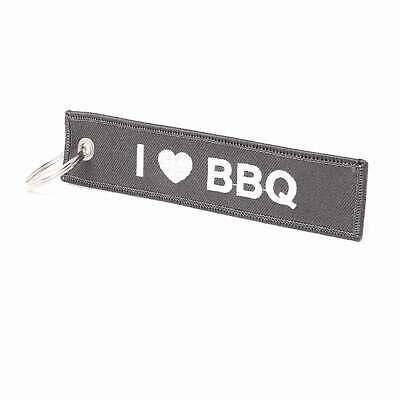 Modestil I Love Bbq Schlüsselanhänger - Grau Grill Grillen Bbq Produkte HeißEr Verkauf
