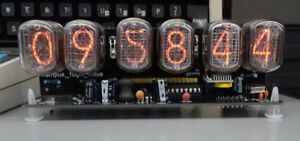 Nixie-clock-six-digits-with-12-24-hr-disp-RTC-and-PSU-Ready-to-display