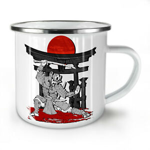 Japanese Fight Dance NEW Enamel Tea Mug 10 oz | Wellcoda