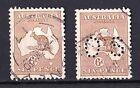 Australia 1929 Kangaroo 6d Chestnut Small Multi. Wmk Used - Normal & Perf OS