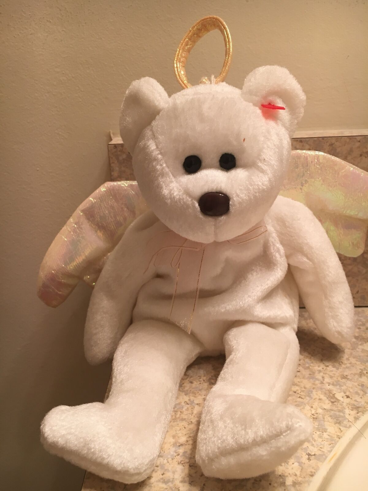 Halo beanie baby 1998 1998 1998 brown nose tush tag stamped 466. Hang tag missing fad5bb