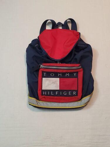Vintage 90s Tommy Hilfiger Drawstring Daypack Back