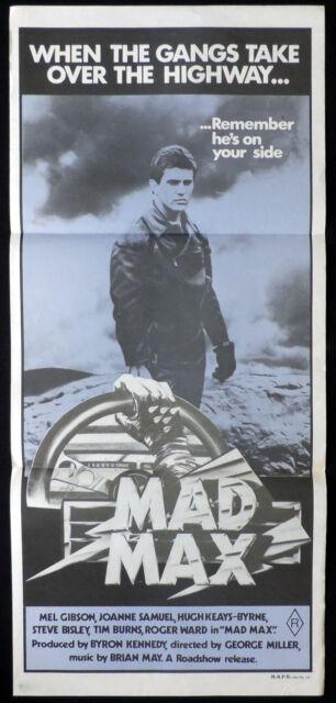 MAD MAX Vintage Original Australian daybill Movie poster Mauve