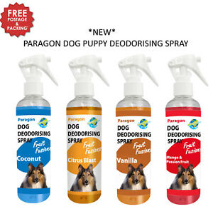 NEW-2-PACK-250ML-PARAGON-FRUIT-FUSIONS-SCENTED-DOG-PUPPY-DEODORISING-SPRAY