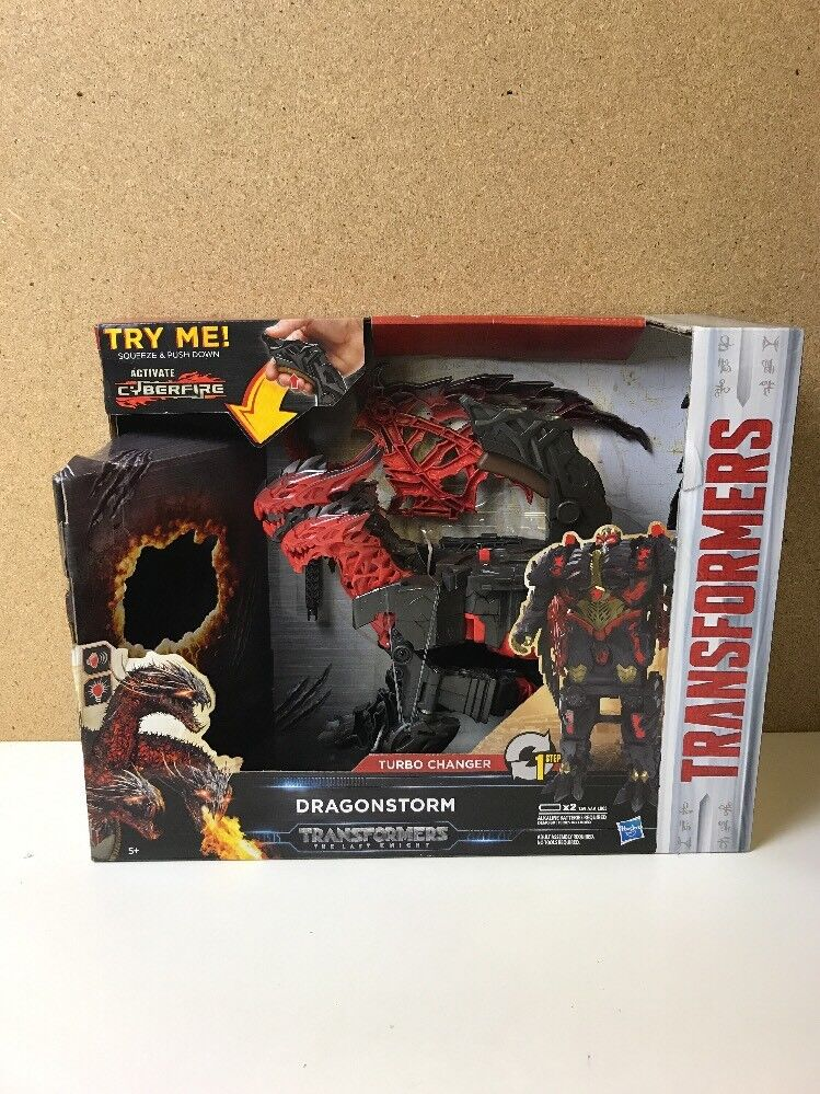 Transformers  The Last Knight Mega 1-Step Turbo Changer Dragonstorm Figure NEW