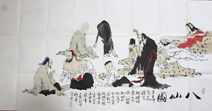 RARE-EXCELLENT-LARGE-Chinese-100-Handed-Painting-By-Fan-Zeng-HG678