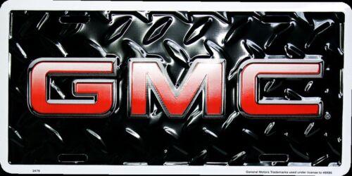 GMC CAR TRUCK TAG LICENSE PLATE BLACK DIAMOND DENALI SIERRA YUKON GMC SIGN
