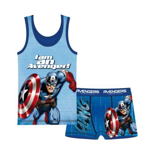 Genuine Avengers Underwear 2 Piece Set Boys Shirt Panties Sizes 4-11 Years