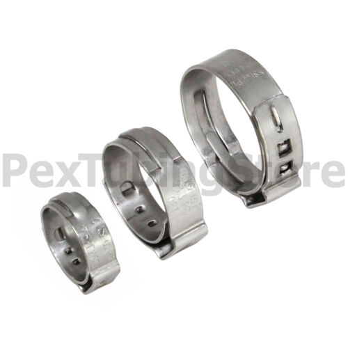 """1000 1//2/"""" PEX Stainless Steel Cinch Clamps SSC by Oetiker Made in USA NSF//ASTM"""