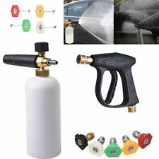 "Car Wash Soap Lance Cannon 1/4"" Snow Foam Washer Gun Spray Pressure Jet Bottle"