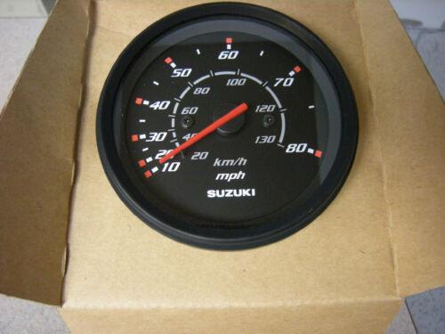"""Suzuki Outboard Parts 4/"""" Speedometer 80 MPH Gauge 34100-93J00 Black"""