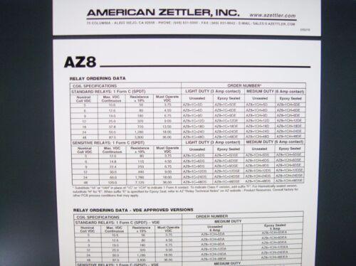 Relè 24v 1xum 250v 6a ZETTLER az8-1ch-24de #20r04