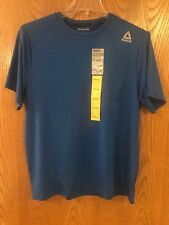 Mens Reebok Speedwick Blue Crew Neck Short Sleeve Shirt Size M Medium
