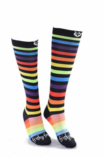 NEW Nurses Socks Frisky Feet Rainbow Compression Nurse Apparel Scrubs Fun Funky