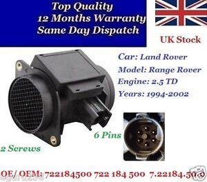Air-Flow-Sensor-Land-Rover-Range-Rover-1994-02-2-5-TD-722184500-7-22184-50-0