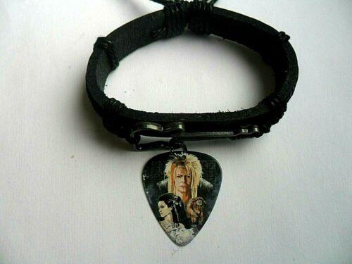 Girls Guitar Charm Leather Adjustable Bracelet /&  DAVID BOWIE   Pick  a Ladies