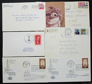 US-Postage-Set-of-6-Stamps-Covers-Letter-Envelope-Adv-FDC-USA-Letter-H-7638