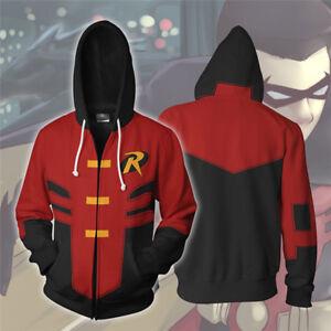 Details about Batman Robin Gadyk Hoodies Jacket Tim Drake Cosplay Costume Sweatshirt